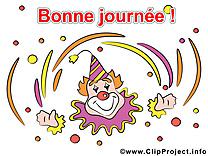Clown dessins gratuits - Bonne semaine clipart