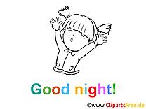 Bonne nuit illustration à imprimer gratuite