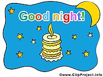 Bougie clipart - Bonne nuit dessins gratuits