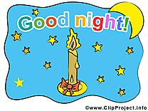 Bougie dessin - Bonne nuit cliparts à télécharger