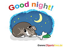 Chien clipart - Bonne nuit dessins gratuits