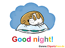 Chien dessins gratuits - Bonne nuit clipart