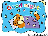 Chien images - Bonne nuit clip art gratuit