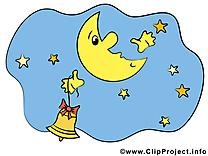 Ciel illustration gratuite – Bonne nuit clipart
