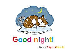 Clip art chat – Bonne nuit gratuite