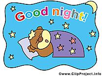 Cliparts gratuis chien - Bonne nuit images