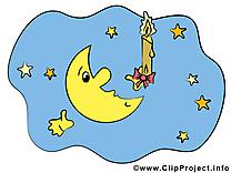 Croissant clip arts gratuits - Bonne nuit illustrations