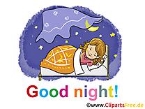 Fille bonne nuit image à télécharger gratuite