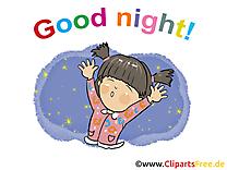Fille image gratuite - Bonne nuit cliparts