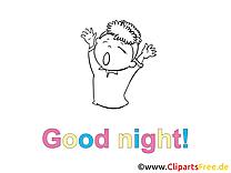 Garçon dessin à colorier - Bonne nuit images