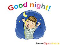 Garçon illustration gratuite - Bonne nuit clipart