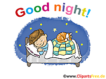 Garçon image - Bonne nuit images cliparts