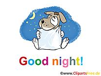 Illustration chien - Bonne nuit images