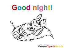 Image à imprimer abeille - Bonne nuit cliparts