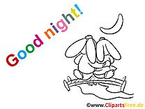 Image à imprimer lapins - Bonne nuit images cliparts