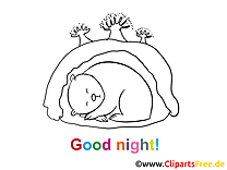 Image à imprimer ours - Bonne nuit illustration