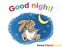 Lapin dessins gratuits - Bonne nuit clipart