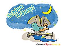 Lapins illustration gratuite - Bonne nuit clipart