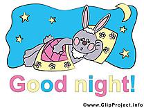 Lièvre bonne nuit image à télécharger gratuite
