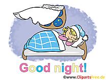 Petite fille clip art gratuit - Bonne nuit dessin