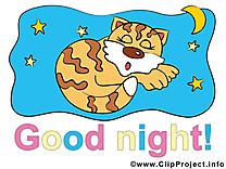 Tigre image gratuite - Bonne nuit cliparts