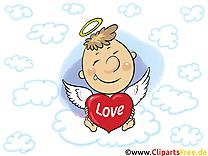 Ange dessin gratuit - Coeur image gratuite