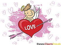 Cupidon illustration gratuite - Coeur clipart