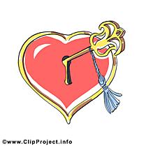 Illustration clés - Coeur images gratuites