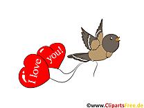 Oiseau dessin à télécharger - Coeurs images