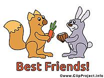 Clip art gratuit meilleurs amis dessin