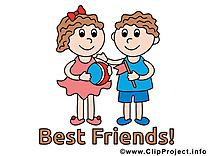 Clipart meilleurs amis dessins gratuits