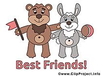 Dessin gratuit animaux - Meilleurs amis image
