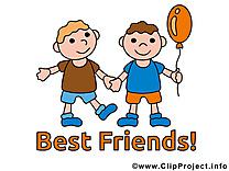 Dessins gratuits meilleurs amis clipart