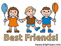 Enfants image - Meilleurs amis images cliparts