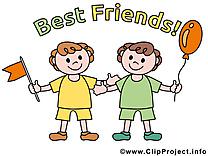 Garçons image gratuite - Meilleurs amis cliparts