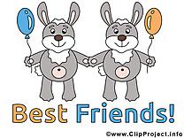 Lapins meilleurs amis illustration à télécharger gratuite