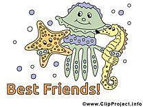 Meilleurs amis clip arts gratuits illustrations