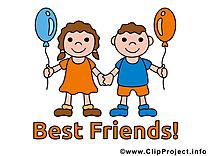 Meilleurs amis cliparts gratuis images