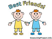 Meilleurs amis image à télécharger clipart