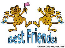 Singes dessin à télécharger - Meilleurs amis images