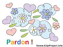 Fleurs illustration gratuite - Pardonne-moi clipart