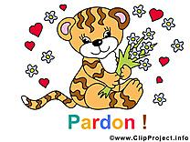 Tigre clip art – Pardonne-moi gratuite