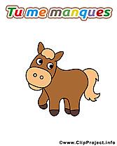 Tu me manques clipart images t l charger gratuit - Clipart cheval gratuit ...