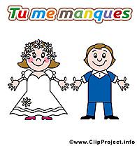Déclaration d'amour cliparts à télécharger - Mariage carte jolie