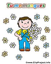 Fleurs clipart gratuit - Déclaration d'amour images
