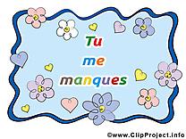 Je t'aime carte gratuite - Déclaration d'amour image