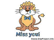 Lion images gratuites - Tu me manques dessins gratuits