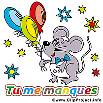 Souris image gratuite - Déclaration d'amour images cliparts