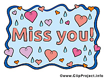 Tu me manques carte gratuite, Déclaration d'amour image gratuite