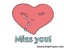 Tu me manques dessin à télécharger - Coeur images